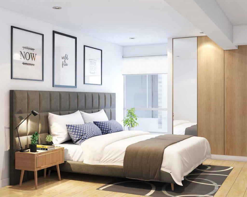 dormitorio en departamento pequeño